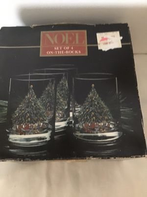 Set of Four Christmas Glasses from Noel for Sale in Tupelo, MS