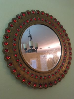 Large Round Gold Mirror from Pier 1 Imports for Sale in San Antonio, TX