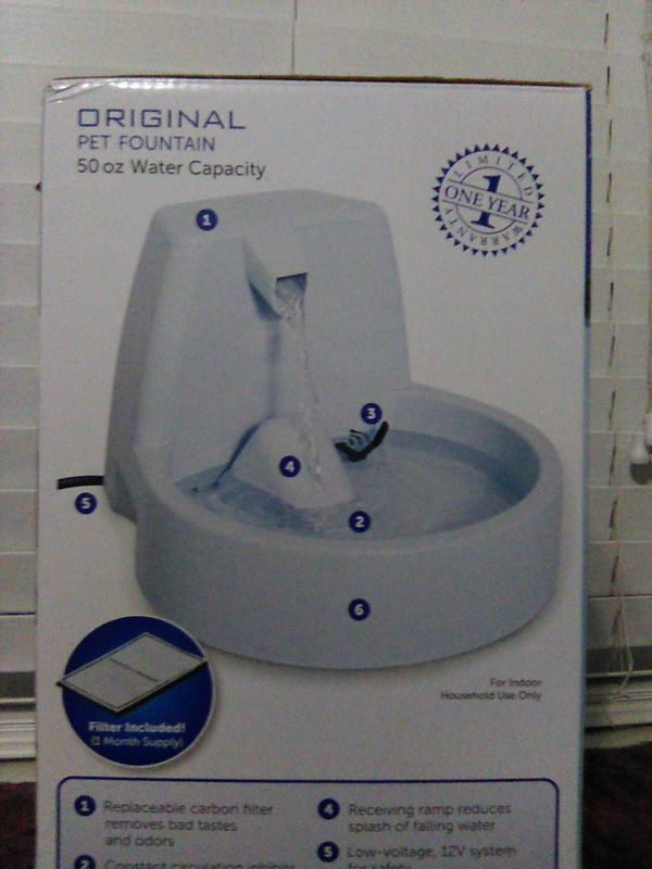 Original petsafe pet water fountain. 50 oz