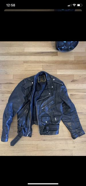 Great Mens-Medium(??) Leather Jacket $100 obo for Sale in Portland, OR
