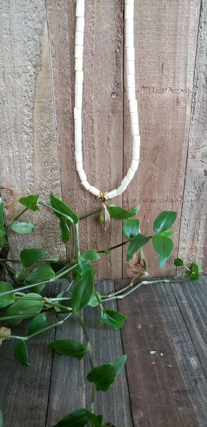 Handmade wood bead leaf charm necklace for Sale in Milwaukee, WI