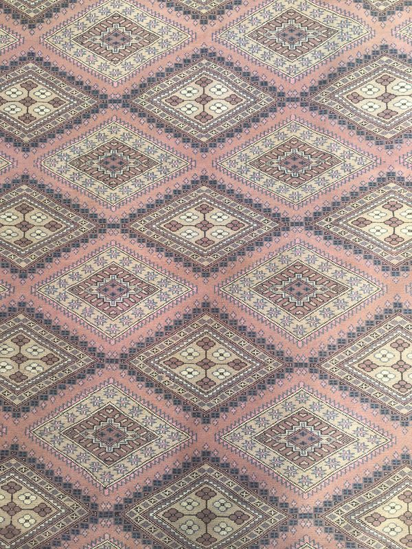 Hand Knotted Wool Silk Area Rug