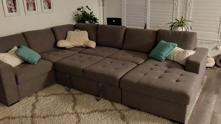 Sectional Couch With Storage And Pop Up Sleeper Cushions for Sale in Las Vegas,  NV