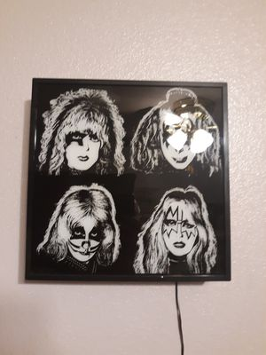 Kiss LED 4 Color Changing Sign 12x12 selling $70 Firm Rare for Sale in Las Vegas, NV