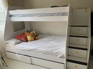 Full over Twin Bunk bed for Sale in Ashburn, VA
