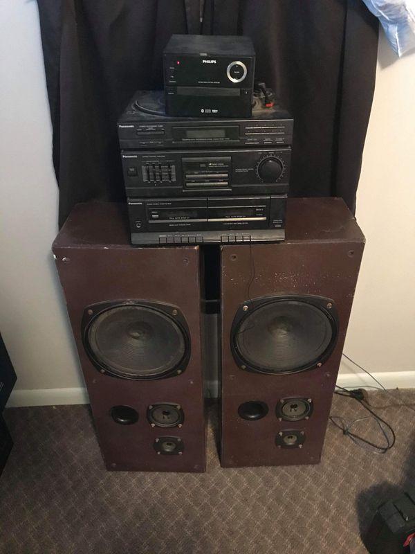 Panasonic and Philips Stereo Speaker System
