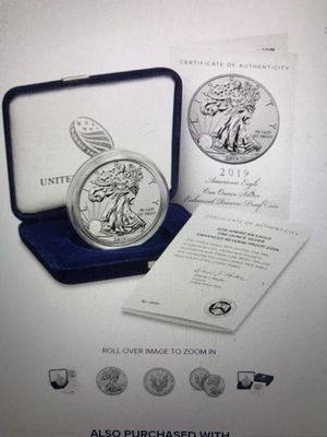 American Eagle 2019 silver enhanced reserve proof coin for Sale in Chicago, IL