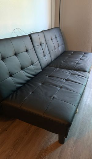 Leather futon good condition for Sale in Sacramento, CA