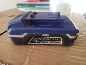 Kobalt 18v Lithium Ion Battery for Sale in Waterbury, CT