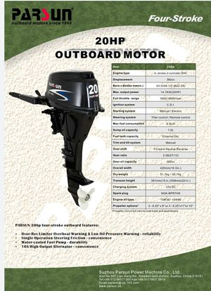 PARSUN SEAPOWER motor!!! for Sale in Smoke Rise, GA