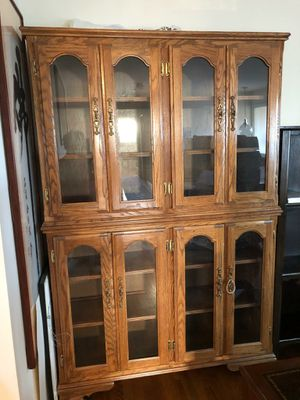 Beautiful Wood Display Cabinet Buffet Cupboard Mint Condition for Sale in Annandale, VA