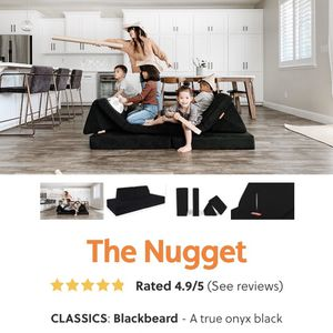Nugget Couch (black, Brand New In Box) for Sale in Los Angeles, CA