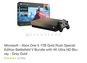 XBOX ONE X 1TB SPECIAL EDITOON BATTLEFIELD V BUNDLE for Sale in West Hollywood, CA