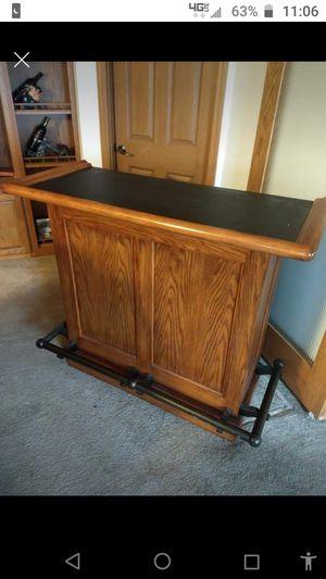 Portable oak dry bar oak swivel back bar stools for Sale in Harmony, PA