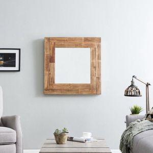 Medium Rectangle Natural Contemporary Mirror (31.5 in. H x 31.5 in. W) for Sale in Dallas, TX