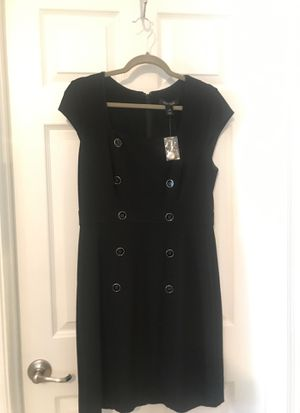 WHBM Black cap sleeves dress Size 10 for Sale in Gibsonia, PA