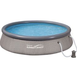 Summer Waves 12ft x 36in Quick Set Above Ground Inflatable Round Swimming Pool with Filter Pump for Sale in Phoenix,  AZ