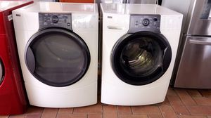 KENMORE WHITE SET OF WASHER AND DRYER USED BUT IN GREAT CONDITION WORKS LIKE NEW I GIVE WARRANTY . SECADORA Y LAVADORA KENMORE BLANCA USADAS PERO CO for Sale in Hialeah, FL