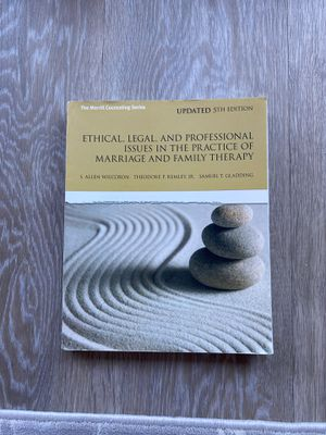 Psychology Book (Ethical, Legal, and Professional issues in the practice of Marriage and Family Therapy for Sale in Tustin, CA