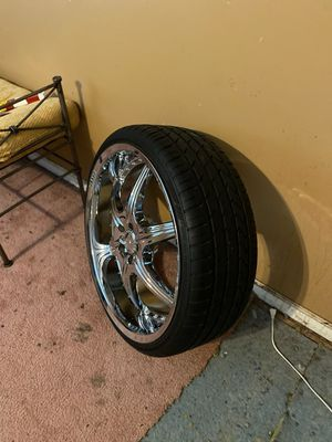 Play rims 22in with new tires for Sale in Nashville, TN
