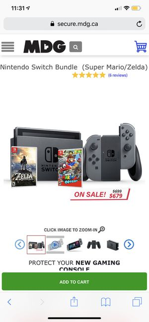 Nintendo Switch Bundle (final price) for Sale in Silver Spring, MD