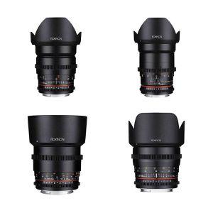 Rokinon Cine DS Lens Bundle EF Mount 24, 35, 50, 85 T1.5 Lenses for Sale in Los Angeles, CA