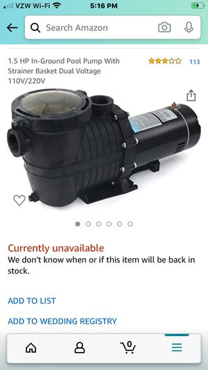 Pool and spa pump for Sale in Land O Lakes, FL