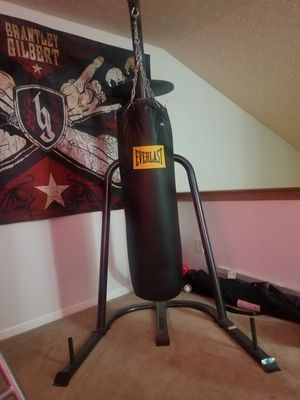 Punching bag. With stand and speed bag holder for Sale in Grove City, OH