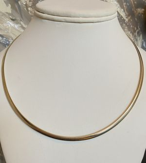 """Neckless Chain Silver Gold plated 925 length 18"""" weight 14.7g $75 for Sale in Portland, OR"""