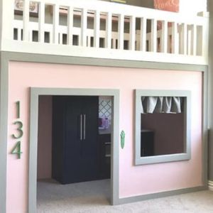 Girls Playhouse Twin Loft Bed for Sale in Corona, CA