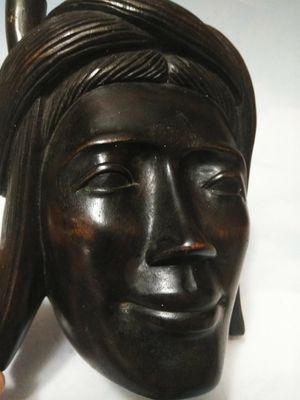 Hand Carved Hard Wood Head bust for Sale in Wolcott, CT