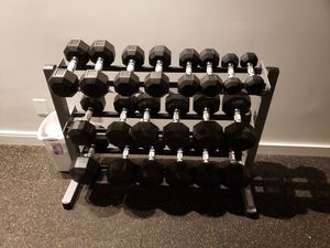 Rack of dumbbells for Sale in Hubbard, OR
