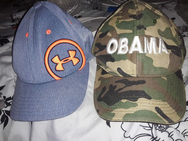 Under Armour hat and Barack Obama hat