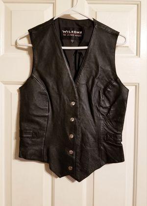 Black Leather Vest for Sale in Braselton, GA