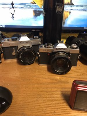 Canon TX AND Minolta Xg-1 and 3 lens for Sale in St. Louis, MO