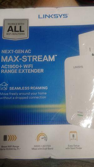 Linksys next-gen AC Max stream ac1900 + Wi-Fi range extender for Sale in Lutz, FL