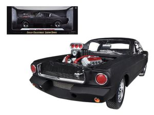 1965 Ford Shelby Mustang GT350R With Racing Engine Matt Black 1/18 Diecast Car Model by Shelby Collectibles for Sale, used for sale  Randolph, NJ