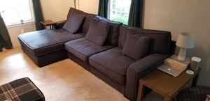 """Ashley Furniture - 2-piece sectional couch with chaise - charcoal color. 120x70x36"""" for Sale in Atlanta, GA"""