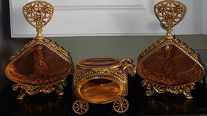 Vintage Perfume Bottles & Jewelry Carriage Casket for Sale in St. Clair Shores, MI