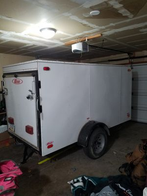 5x10 ramp carson utility trailer with spare for Sale in Glendale, AZ
