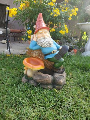 Brand new gnome water fountain 27 inches tall for Sale in Fontana, CA
