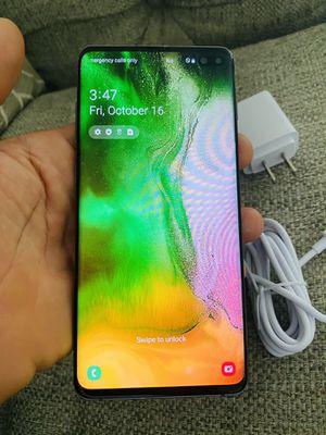 Samsung galaxy S10plus black 128gb factory unlocked (firm price) for Sale in Davie, FL
