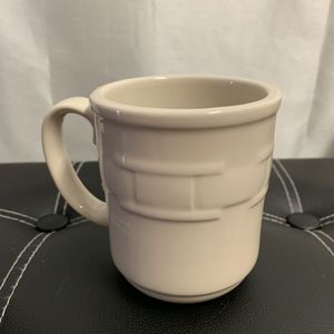 Longaberger Pottery Woven Traditions Ivory Coffee Mug Cup for Sale in Honolulu, HI
