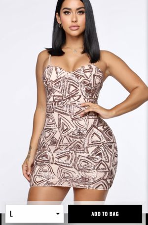 Rose gold sequin mini dress for Sale in Fort Worth, TX