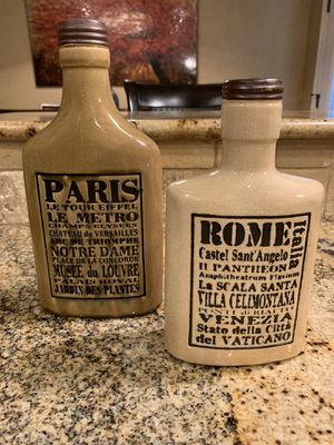 Beautiful Decorative Canister Set - Rome Paris - Brand New!!! for Sale in Amarillo, TX