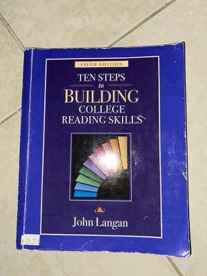 10 steps to building college reading skills by John Langan for Sale in Miami, FL
