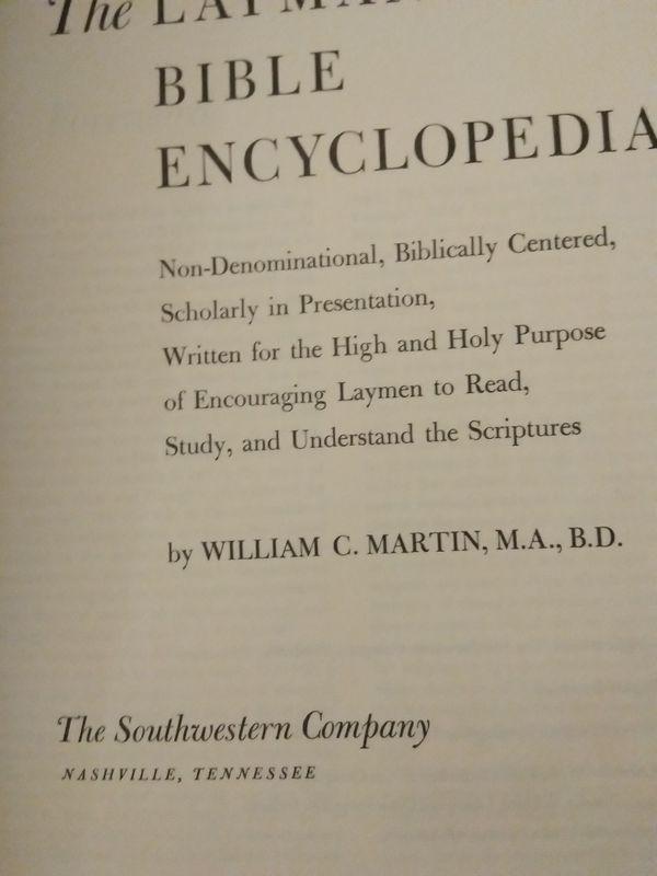 Layman's Bible encyclopedia 1964 the southwestern company