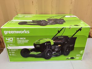 Green works 20-inch cordless push lawn mower for Sale in Mercedes, TX