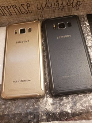 Samsung Galaxy s8 active gsm unlocked ATT,CRICKET, tmobile, metro and worldwide. Price is 120 for each phone no NEGOTIABLE. Works for Samsung pay. for Sale in Atlanta, GA
