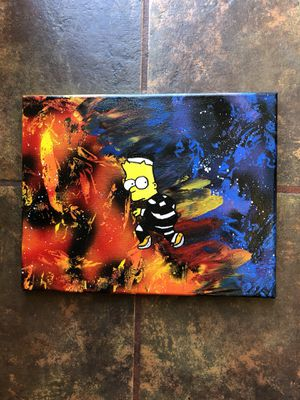 Simpsons painting original art abstract 1/1 125$ for Sale in San Diego, CA